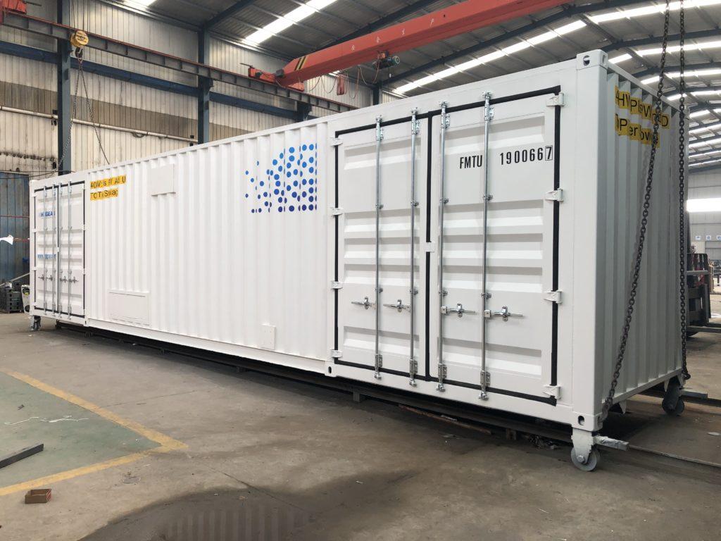 水素発生装置内蔵設備コンテナ